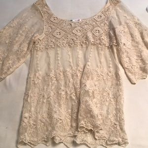 Lace/Crotchet long top